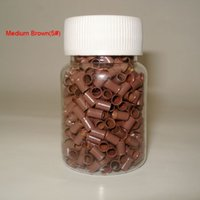 1000pcs / bottle 3.4mmx3.0mmx6mm Micro anéis de cobre Links / Beads For Hair Extensions tools 8 cores