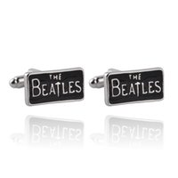 Wholesale beatles band online - United Kingdom Classic The Beatles Rock Band Style Cufflinks For Mens And Women Gifts Top High Quality Brand Cuff Links Buttons