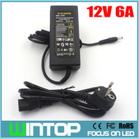 Wholesale AC to DC V A Power Adapter EU US AU UK Plug Professional Power Supply DC mm x mm for LED Light LCD Monitor