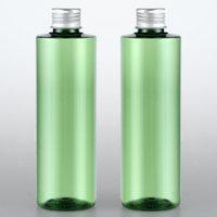 aluminium-flaschenpakete großhandel-30 stücke 250 ml Leere Kunststoff Kosmetische Container Aluminium Schraubverschluss Shampoo Waschen Paket Flaschen 250g Flüssigseife Lotion grüne Flasche Parfüm