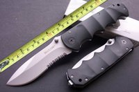 Wholesale black serrated pocket knives for sale - Group buy Camping Knife Sharp MAXAM Y0853 Black Bear HRC Cool Knife Folding Serrated Pocket Knife Survival Tactical Knives Xmas Gift F527E