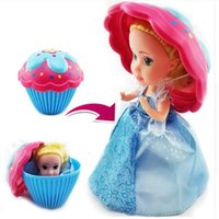 Wholesale Princess Presents - Surprise Cupcake Princess Doll Deformable Dolls Girl Beautiful Cute Toy Birthday Present Mini Cake Doll Toys for Kids Boneca