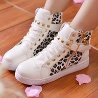 Wholesale Canvas Flower Korean Shoes - Korean Style New Arrival 2015 Fashion Causal Women Spring Summer Womens Shoes Womens Flowers Leopard Rivet Fashion Shoe