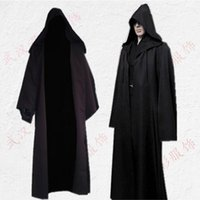 Wholesale pirate men costume - Cos Jedi Knight cloak women cosplay costumes adult woman halloween pirate costume superhero cape performance robe costumes men wholesale