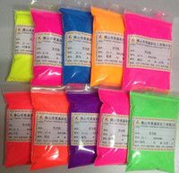 Wholesale Fluorescent Pigment Powder - Wholesale- 60gram x Mixed 6 NEON Colors Fluorescent Phosphor Pigment Powder for Nail Polish&Painting&Printing