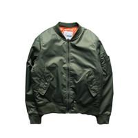 Wholesale Big Force - Fall-New 2016 Hip Hop Air Force Pilot Jacket Solid Color Big Yards Baseball Uniform Jacket Couple Varsity College Bomber Jacket Men