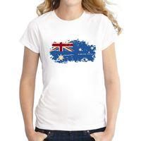 ingrosso bandiera nazionale australia-Australia National Flag Women T-shirt Manica corta Australia 2016 Rio Summer Games Fans Cheer Casual T-shirt per le donne