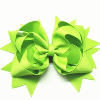 Wholesale Over Top Hair Bows - 80pcs lot Grosgrain Ribbon Stacked Over the Top Hair Bows