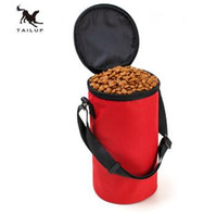 Wholesale Pet Food Containers - TAILUP New Collapsible Dog Travel Bowl High Quality Pet Hamster Dry Food Container Waterproof Bag TOP2030