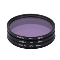 Wholesale 62mm Polarizer - Andoer 62mm Filter Set UV+CPL+FLD Circular Filter Kit Circular Polarizer Filter with Bag for Nikon Canon Pentax Sony DSLR Camera