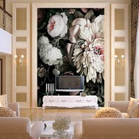 Wholesale Traditional Oil Paintings For Sale - Photo Custom 3 d wallpaper oil painting large murals wall paper on sale porch corridor european-style non-woven Decor wallpaper