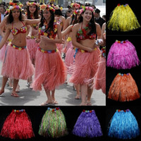 Wholesale Hawaii Costume - Hot Party Grass Skirt Women Fashion Hawaii Dance Show Performance Skirts Bar Club Performance Hula Skirt