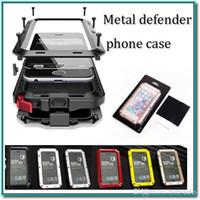 metall aluminium iphone 5c fall großhandel-Heißer verkauf wasserdicht metallgehäuse hart aluminium schmutz stoßfest handy fällen abdeckung für iphone4 / 4s 5 / 5c / 5s 6 / 6s 6s plus