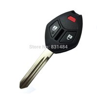 Wholesale Mitsubishi Car Key Shell - 2+1 buttons replacement remote car key case shell with right blade for Mitsubishi without logo