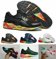 Wholesale Colorful Sneakers For Women - 2016 huarache 1 I Running Shoes For Women & Men,Black White Colorful High Quality Sports Shoes Rainbow HUAraches Sneakers Eur 36-45