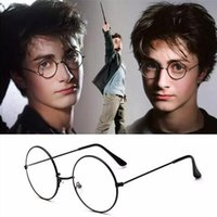 5 cores Harry Potter Óculos Round Eyeglass Frames Halloween Cosplay Black Gold Silver Plain Mirror Fashion Glasses CCA6695 100pcs
