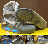 Wholesale Led Back Up Lights - Air Mag Men Limited Edition Back To The Future AKA Marty McFly Mags,Mens Basketball Shoes With LED Lights Sport Sneakers With Box