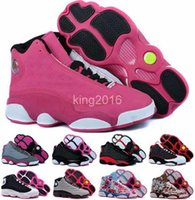 Wholesale Highest Quality Rubber Bands - 2016 new retro 13 XIII basketball shoes for women,high quality womens air dan retros 13s athletic sport sneakers trainers shoe red flower