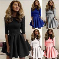 Wholesale White Club Dresses For Women - Spring women dresses tightly pleated wave casual white ladies dress cute women clothing bodycon club party black dresses for womens