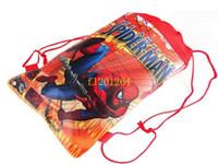 cordón para hombre al por mayor-150pcs / lot liberan el bolso del zapato del hombre araña del envío, bolsa del zapato, bolso del regalo, bolso del bolso de hombro de la mochila del bolso de lazo