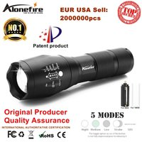 Wholesale Xml T6 Led Flashlight - AloneFire E17 XML T6 3800Lumens High Power LED Zoomable Tactical LED Flashlights torch light for AAA or 18650 battery