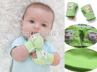 Wholesale Baby Mittens Scratch - Hot Sale 1 Pair Baby infant Soft Cotton Rattles Anti-scratch Mittens Gloves Handguard