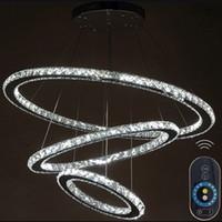lmparas de techo modernas regulables lmparas de cristal de diamante anillo led