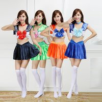 Wholesale Japanese Swimsuits Bikinis - Sailor Moon Mercury Mars Sailor Jupiter Venus Costumes Bikini Swimsuit suit
