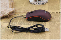 Wholesale Mini Notebook Lenovo - USB Optical Mouse Mini 3D Wired Gaming Mice With Retail Box For Computer Laptop Notebook Game Lenovo M20 Fedex DHL