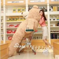 Wholesale Teddy Smiling - Dorimytrader 260cm Giant Smiling Bear Plush Soft Stuffed Bears 102'' Biggest Cartoon Teddy Bear Nice Lover Present Free Shipping DY61193