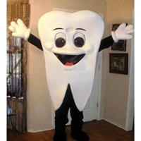 Wholesale Tooth Mascot Costumes - Tooth Mascot Costume Adult Size Halloween Chirstmas Party Costumes Fancy Dress Free Shipping
