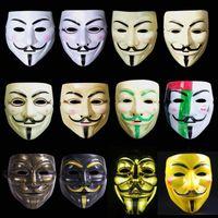 máscara de fawkes de chico adulto al por mayor-V Máscara Vendetta Máscara de Halloween para adultos Máscara de cara completa Vendetta Anónimo Película Guy Fawkes Máscara Vendetta