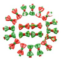 Wholesale Snow Headband Flower - 2016 New Christmas Gift Ribbon Baby Barrettes 10 styles Boutique Hair Clips Kids Girls Accessories Santa Claus Flower Snow Hairpins 20pcs
