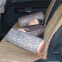 Wholesale Cool Designs Cushion - Wholesale- High-elastic core Simulation Fanny Wood Column Design Soft Round Long Pillow Cover Pillow Back Cushion