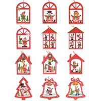 Hot Christmas Ornaments Christmas Reindeer Bell-Baum-Dekorationen Home Festival-Party Requisiten Großhandel, freies Verschiffen, 12pc pro Los hängen
