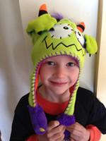 Wholesale blue spiderman toys resale online - Push Moving Hat set Spiderman superman Baby Hat Earflap Flipeez Cap Kids Rabbit Animal Dance Monster Action Bonnet Sponge toy