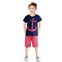 Wholesale Lycra T Shirt Kids - 2016 Boys Clothing Set Children Sport Suits Children's Clothing Sets For Kids Cotton Clothes Set Boy T-Shirt+ Short Pant