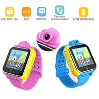 Wholesale android wifi touch watch phone online – Q730 Wifi G Smart baby Watch JM13 Q730 Camera GPS Location Touch Screen tracker for kids safe child SOS Monitor for IOS Android Phone G75