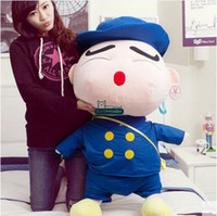 Wholesale Shin Chan Stuffed Toy - Dorimytrader 39''   100cm Japan Anime Crayon Shin-chan Doll Stuffed Soft Plush Giant Cartoon Toy 2 Sizes Nice Gift Free Shipping DY60026