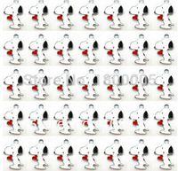 Wholesale Dog Pendant Earring - High Quality !Lot 100 pcs Cartoon Cute Dog Red hearts Enamel Metal Fashion Charms Pendants Earrings DIY Jewelry Making Gifts