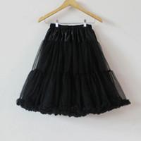 Wholesale Soft Fluffy Tutu - 29colors fashion black woman petticoat teenage adult girls chiffon skirt soft tulle pettiskirt tutu party long fluffy skirt