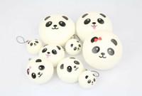 Wholesale Jumbo Panda Squishy Free Shipping - free shipping 4cm 7cm 10cm kawaii soft scented squishy jumbo panda slow rising squeeze bun toy phone charm squishies bread