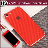 Wholesale iphone side stickers - Free Shipping ! Carbon Fiber Full Body Sticker For iPhone 7 Plus 6 6S Luxury Business Front+Back+Sides 360 Degree Wrapped Skin Protetor