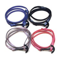 Wholesale Womens Bracelet Styles - Hope Anchor Infinity Wrap Rope Charm Fish Hook With Nautical Rope Paracord Bracelet For Mens And Womens Miansai Style