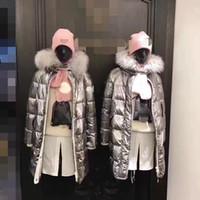 Wholesale Women S Long Cotton Skirts - Heavy launch 2017 winter latest woman long down jacket silver fox fur collar temperament silver gray