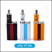 Wholesale Ego 4ml Kit - Top Quality Joyetech Evic VT Kit 60W TC Mod Vaporizer Starter Full Kits With 5000mAh Battery 4ml Ego One Mega Atomizer