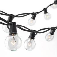ampoules décoratives de noël achat en gros de-Guirlande de lumières Noël G40 Globe Party de Patio Lights, blanc chaud, ampoules vintage de 25 pieds, 25 pieds, guirlande de jardin décorative