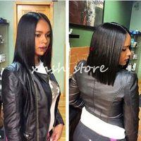 Wholesale Cheap Bob Style Wigs - Brazilian Human Hair Bob Wigs For Black Women Lace Front Wig Bob Style 130% Density Glueless Bob Full Lace Wigs Cheap
