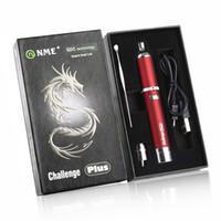 Wholesale E Cigarette Herb Burner - 2017 Best Selling NME Challenge Plus Kit 1100mAh Battery E Cigarette Kits Dry Herb Vape Pen Vaporizer Oil Burner Wax Vaporizer