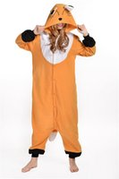 Costume cosplay di vendita caldo poco costoso Brown Fox Anime Pigiama Abito per adulti indumenti da notte di Halloween S M L XL